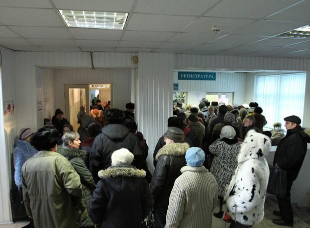 Недовольство граждан из-за очередей в поликлинике
